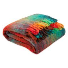 Coloured Checked Mohair Blanket - Blankets - Living Room | Zara Home United Kingdom