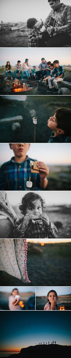 Documentary | Lifestyle | Real Moments | Photography | Family Time Around the Campfire with S'mores