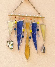 Stained Glass Wind Chimes | Valentines day Wind Chimes Stained Glass Sun Catcher - Gift Under 50