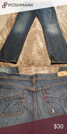50a7a3e3355 Womans Levi s Blue jeans 505 Straight Leg Womans Blue jeans Levi s Jeans  Straight Leg Jeans Levi s