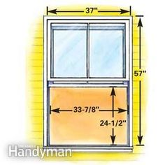 #HowTo: Minimum size double-hung egress window #basement #DIY - Get the project: http://www.familyhandyman.com/windows/how-to-plan-egress-windows/view-all