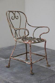 French Metal Garden Furniture Pair of pretty french metal garden chairs romantic french country a c19th wrought iron arras armchair matthew cox img6137 crop garden chairsgarden workwithnaturefo