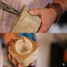 des pots de fleurs DIY en argile