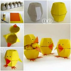 Well, egg carton craft ideas are not as difficult as they might appear at the first glance. These Egg Carton Crafts for Kids above will make you want to get Easy Easter Crafts, Easter Crafts For Kids, Diy For Kids, Easy Crafts, Diy And Crafts, Paper Crafts, Easter Ideas, Ostergeschenk Diy, Easy Diy