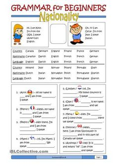 Here is the 9th ws in the series of grammar for beginners. I make a booklet of them all. There are more to come. - ESL worksheets