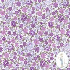 Tissu fleurs liberty parme Agathe