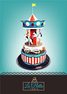 Carousel cake for my nephews. Visit FB page La Bella Torte