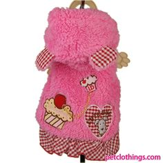 Fashionable Winter Coat in Pink for Pets and Dogs shipping to USA and Canada
