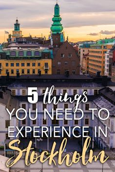 "Heading to Stockholm for an extended visit? Or maybe biting the bullet and moving? Chances are you've already seen all the highlights—Gamla Stan, Djurgarden, maybe the Ice Bar. Where to delve next, with all that extra time? Here are five highlights for an extended stay in the ""Venice of the North""!"