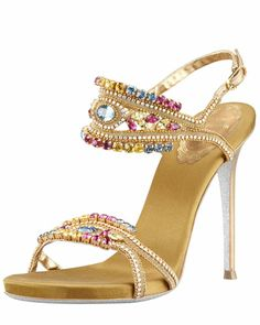 Tendance Chaussures Beth Behrs Touches Kat Cracked Toe in Rene Caovilla Sandals Fashion Te Fab Shoes, Pretty Shoes, Dream Shoes, Crazy Shoes, Beautiful Shoes, Cute Shoes, Me Too Shoes, Pretty Sandals, Beautiful Bags