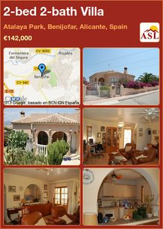 2-bed 2-bath Villa in Atalaya Park, Benijofar, Alicante, Spain ►€142,000 #PropertyForSaleInSpain