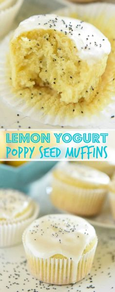 ***Lemon Yogurt Poppyseed Muffins ~ one bowl and just 30 minutes to make these deliciously moist muffins!