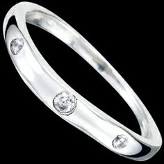 Silver ring, CZ, fine ring Silver ring, Ag 925/1000 - sterling silver. With stones (CZ - cubic zirconia). A fine ring with round zircons set into silver. The stones are set by goldsmiths, not glued!