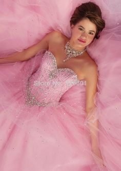 Vestidos de Debutante 2014 New Sweet 16 Dress Baby Blue Pink Ball Gowns Quinceanera Dresses 2014 Vestido De 15 anos  US $199.00