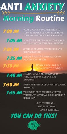 For a healthy and mindful start to your day, practice this morning routine fille. - For a healthy and mindful start to your day, practice this morning routine filled with natural anxi - Health Anxiety, Anxiety Tips, Anxiety Help, Stress And Anxiety, Mental Health, Overcoming Anxiety, Things To Help Anxiety, Anxiety And Depression, Foods For Anxiety