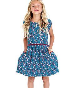 Look what I found on #zulily! Blue Florence Dress - Girls #zulilyfinds