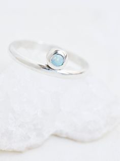 Parallel Opal Ring | Handmade in NYC and ethically sourced, this stunning and delicate sterling silver ring features a beautiful opal accent.