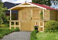 Gartenhaus aus Holz im Garten