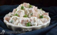 Zöldborsós krumplisaláta sonkakockákkal recept fotóval Potato Salad, Recipies, Potatoes, Ethnic Recipes, Food, Finger, Salads, Recipes, Potato