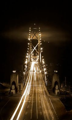 Lions Gate Bridge, Vancouver postcard. (also available as a print!)
