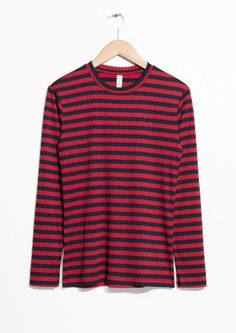 & Other Stories | Ribbed Stripe Top
