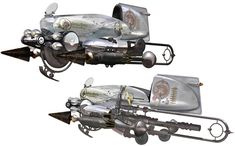 Last Exile: Fam, The Silver Wing - Advancement in 3D imaging means developing concept art has become easier. All you need is the 3D model and you can get a full reference of it from any angle you like.