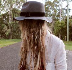 Love braids, twists and fun stuff in messy hair.