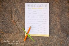 cute paper goods, wedding advice, reception ideas, personalized wedding, wedding guest, fill it out, wedding photography, great wedding ideas :: Katie + Derek's Wedding at Hotel Indigo in Athens, GA :: with Chad + Tina