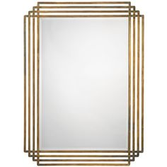 "Jamie Young Company Jamie Young Serai Brass 32"" x 44"" Wall Mirror (418.125 CLP) ❤ liked on Polyvore featuring home, home decor, mirrors, rectangle wall mirror, beveled mirror, hand mirror, jamie young and rectangular mirrors"