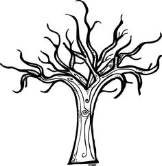 Bare tree coloring page bare tree coloring pages Spooky Trees, Halloween Trees, Monster Coloring Pages, Coloring Pages For Kids, Kids Coloring, Coloring Book, Colouring, Scary Halloween Coloring Pages, James And Giant Peach