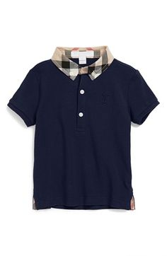 Burberry 'William' Cotton Polo (Baby Boys) available at #Nordstrom