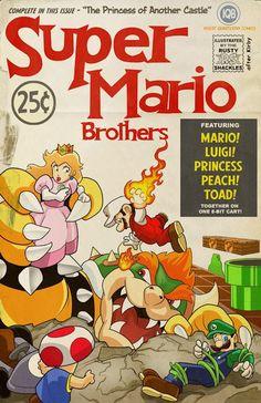 Super Mario Bros., Fantastic Four style #Mario #Fantastic4 #Nintendo