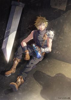Cloud resting it´s about to have a word with Sephiroth