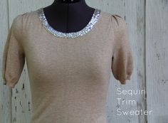 How to make a sequin trim sweater.
