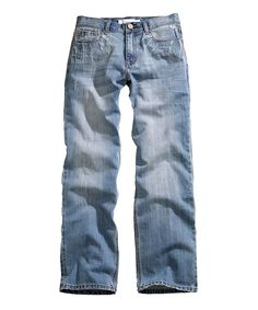Blue Heavy Distressed Whiskered Regular Joe Jeans - Men's Regular