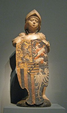 Shield Bearer with the Ducal Arms of Saxony German,Augsburg,1518, Workshop of Adolf Daucher