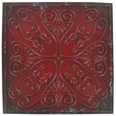 Distressed Embossed Metal Wall Plaque