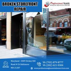 Looking for a storefront glass repair services in place? Professional Glass Window Services and Repair offers an affordable price on your storefront glass repair services in Virginia, Maryland, and Washington DC areas. For more information visit us at Professional Glass Window Services and Repair #storefrontglass #storefrontglassrepair #commercialglassrepair #commercialglassdoor #commercialglassdoorrepair #glassrepair #glassreplacement #virginia #Washington #DC Commercial Glass Doors, Storefront Glass, Washington Dc Area, Glass Repair, Glass Replacement, Store Fronts, Maryland, Locker Storage, Virginia