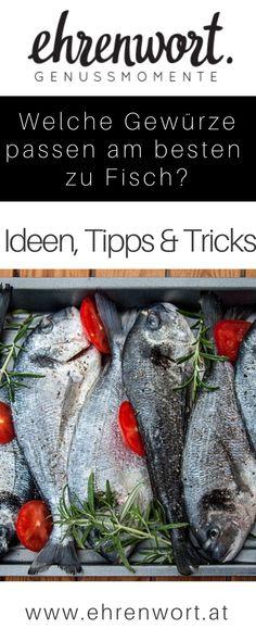 Die TOP 6 Gewürze und Kräuter die perfekt zu Fisch passen. #fisch #fischgewürz #fischgerichte #fischmarinieren #fischzubereiten #gewürze #gewürzmischung #kräuter #spices #bio #österreich #kochen #bioküche #regional #ehrenwort #genussmomente #genießen #biologisch Foodblogger, Outdoor Cooking, Tricks, Food Inspiration, Bbq, Meat, Regional, Dutch Oven, Fish Dishes