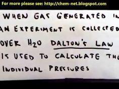 Chemistry Net: Dalton's Law – Law of Partial Pressures
