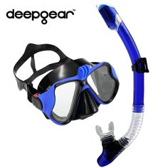 36.79$  Know more - Tempered Glass Myopia snorkel set Adult scuba diving mask Gopro Camera mount Dry Diving Set  Deepgear Brand scuba snorkel gears   #buychinaproducts