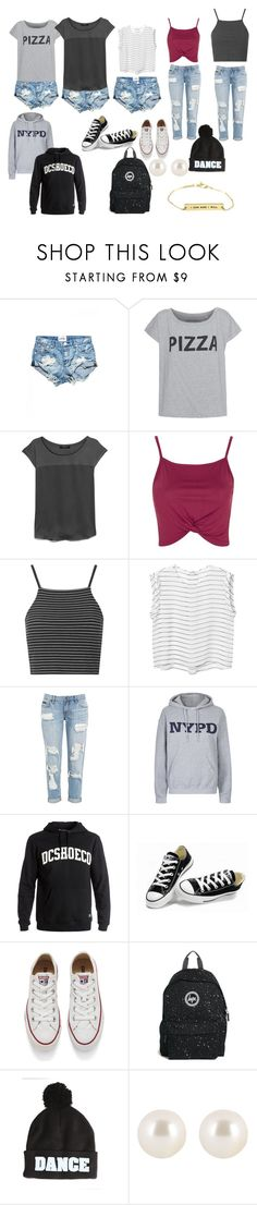 """Unbenannt #1499"" by strawberryfelton on Polyvore featuring Mode, MANGO, Topshop, Monki, Tee and Cake, DC Shoes, Converse, Hype, JFK und Henri Bendel"