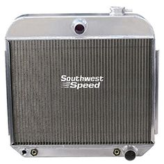 NEW 55-57 CHEVY ALUMINUM DOWNFLOW RADIATOR WITH BUILT-IN ...
