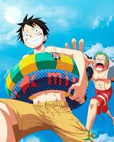 One Piece, Straw Hat Pirates, Luffy, Zoro
