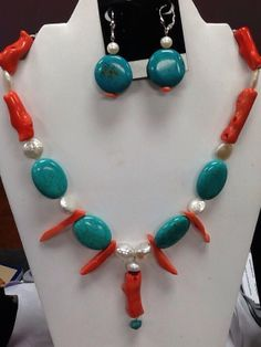 Salmon Pink Branch Coral Fresh Water Pearls by ButterflyandMoon, $89.00