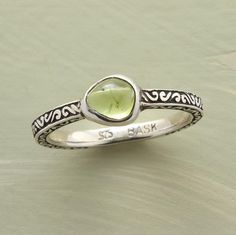 Organic Peridot Ring
