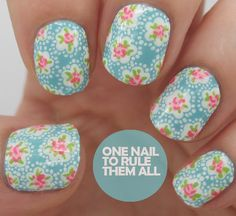 One Nail To Rule Them All: Then and Now: Cath Kidston + Tutorial