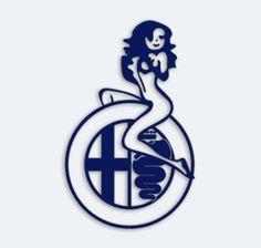 Girl on Alfa Logo