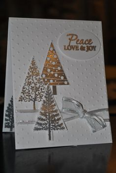 Stampin up Festival of Trees handmade by SplitCoastCreations