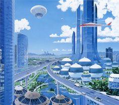 crookedindifference:    The future: Tatsushi Morimoto, ca. 80s    Love all the parks!